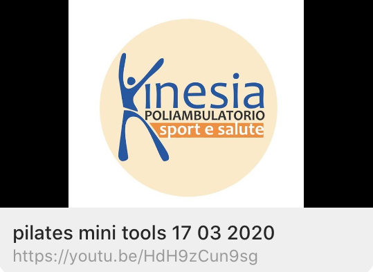 CORSI KINESIA: pilates mini tools