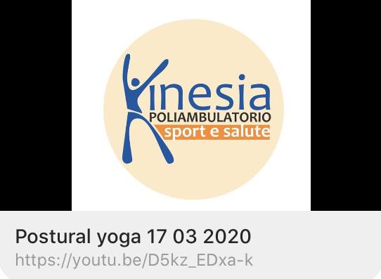 CORSI KINESIA: postural yoga