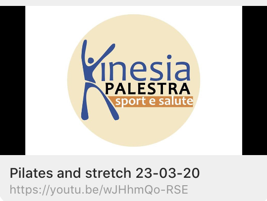 CORSI KINESIA: Pilates and stretch