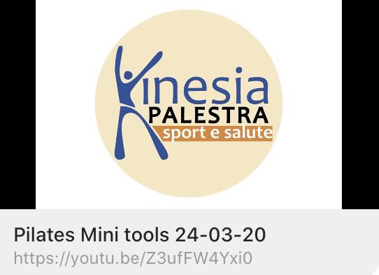 CORSI KINESIA: Pilates Mini Tools